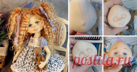 Как сделать объёмное личико текстильной кукле Очень много вопросов по лицу куколки. Простому обывателю даже не верится, что куклы сделаны из ткани. Поэтому я немного приоткрою занавес и покажу кое-что из рабочего процесса. Для того чтобы тот, кто начинает шить кукол, понимал, в каком направлении ему двигаться, ну или выбрать другой способ :) У меня всё просто :) Я использую хороший американский хлопок фирмы KONA.
