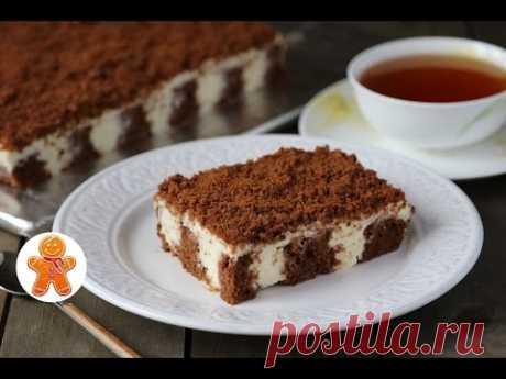 """Пирог """"Решето"""" Мягкий и Сливочный (как Тирамису) ✧ Poke Cake (English Subtitles)"""