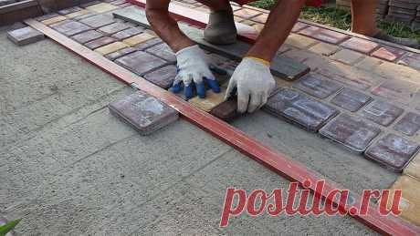 Тротуарная плитка: виды и правила укладки своими руками