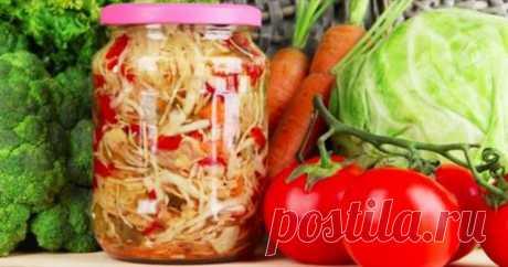 6 очень вкусных салатов из капусты на зиму — 1001 СОВЕТ