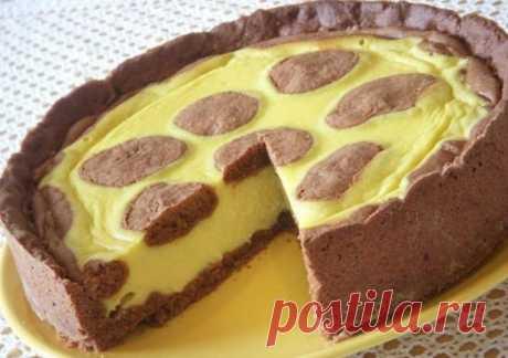 Нежный пирог со сметано-творожной начинкой «Жираф». Пирог получается божественно вкусный! А также у него великолепный внешний вид! Сочетание шоколадного теста с творогом вызовет восторг у всех без