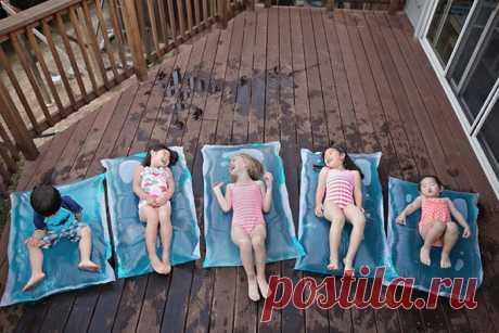 Море в доме: как сделать водяной матрас дома и устроить детям летнюю сказку . Милая Я