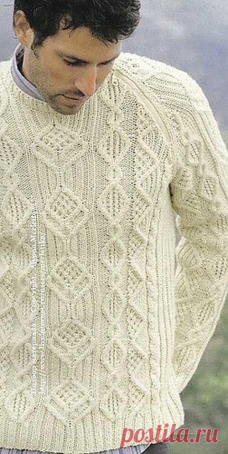 Пуловер спицами ...от Phildar (Франция).