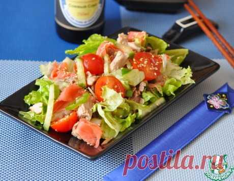 Японский салат с курицей и имбирем – кулинарный рецепт