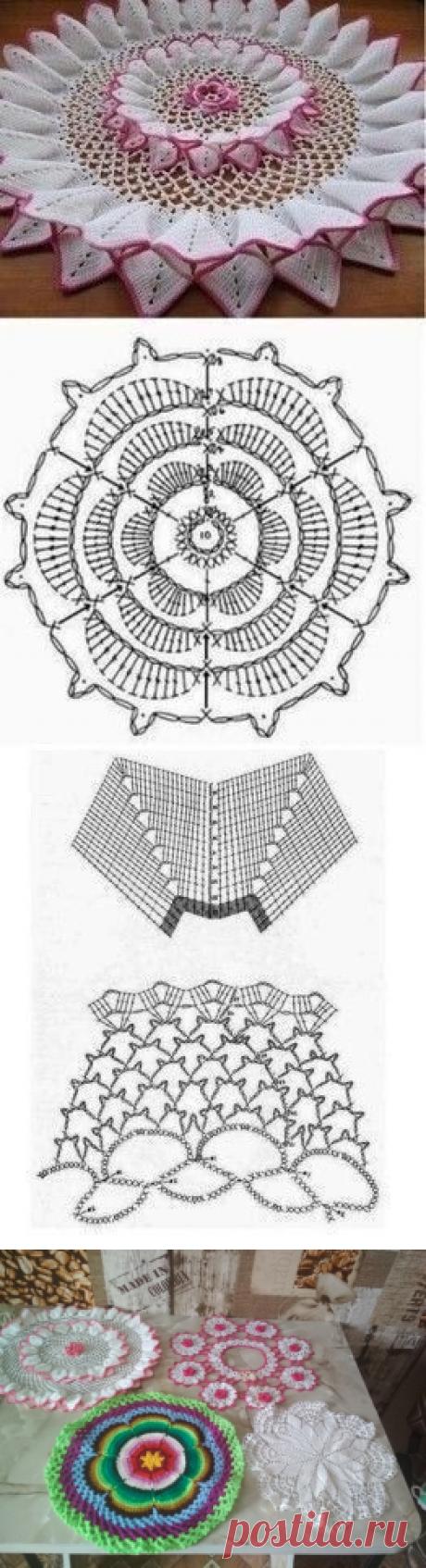 Объемная салфетка крючком