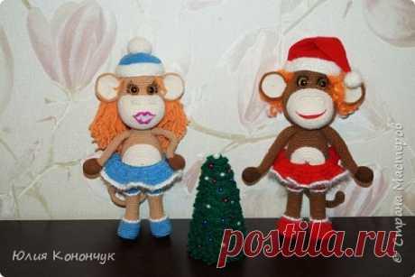 Вяжем симпатичную новогоднюю обезьянку