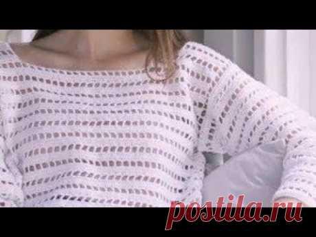 Узор крючком для пуловера   Ирина Буланова   Яндекс Дзен