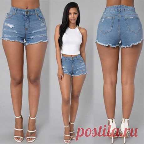 С чем носить джинсовые шорты летом 2018, как подобрать по фигуре