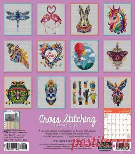Cross Stitching. Activity Calendar 2021