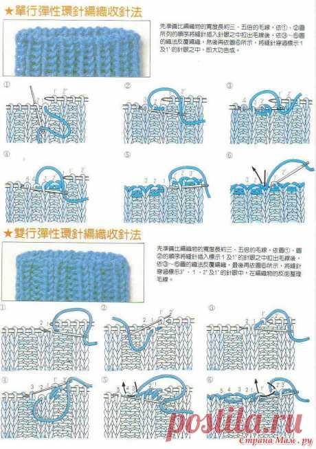 Приемы вязания спицами: Фото альбомы - Страна Мам