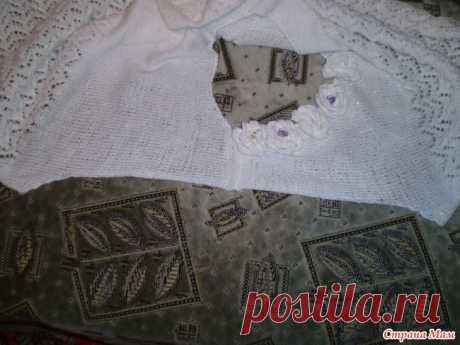 Вязание рукава сверху от плеча спицами