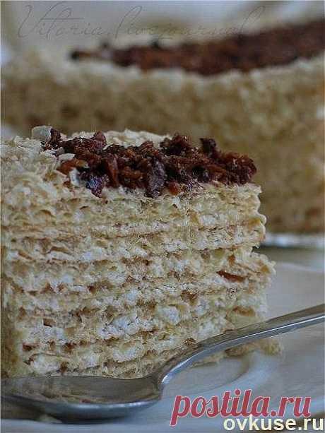 Вафельный торт с безе - Простые рецепты Овкусе.ру