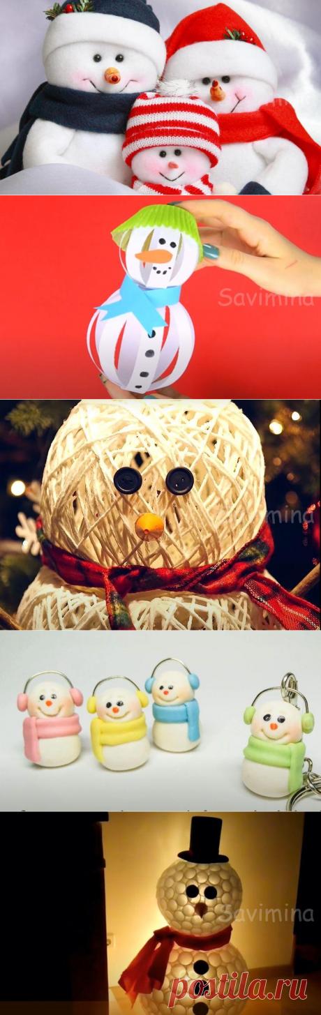 Снеговик своими руками из подручных материалов на Новый Год — 12 мастер-классов