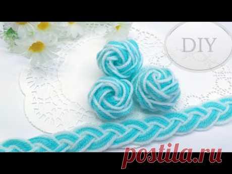 DIY 🌹 Розы из пряжи | 🌹🌹🌹 Easy Woolen Rose | Hand Embroidery Amazing Trick - YouTube