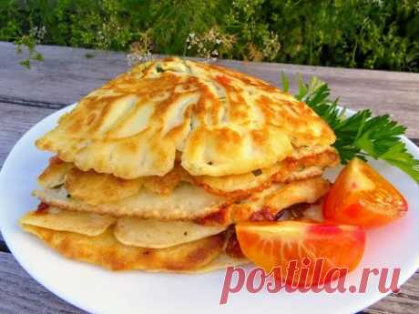 Польский завтрак / Быстро, просто и недорого! Блины с овощами и сыром
