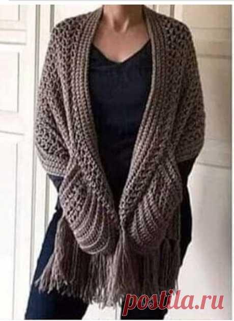 Вяжем модный шарф с карманами. Несколько моделей с описанием. Узоры и МК. | Волшебный клубочек! | Яндекс Дзен