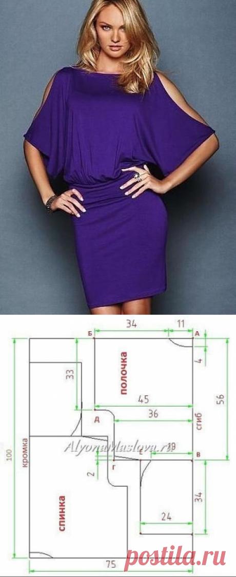 Как сшить платье с напуском на талии без выкройки?