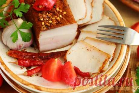 Рецепт мягкого и сочного сала в рассоле «По-деревенски»