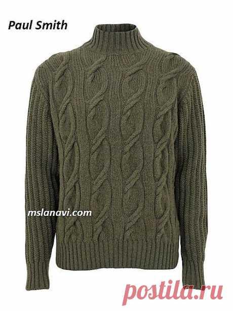 Мужской свитер Paul Smith | Вяжем с Лана Ви