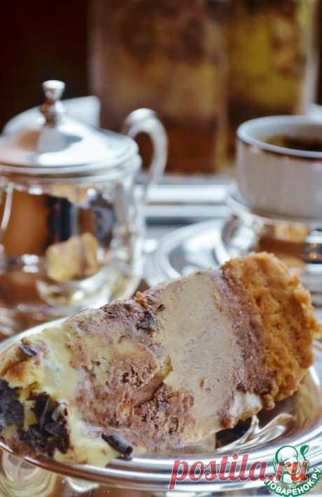 Торт-мороженое с маршмеллоу и шоколадом.