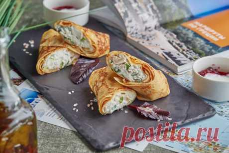 Блины по-гречески от Андрея Макаева, шеф-повара ресторана Юлии Высоцкой Food Embassy