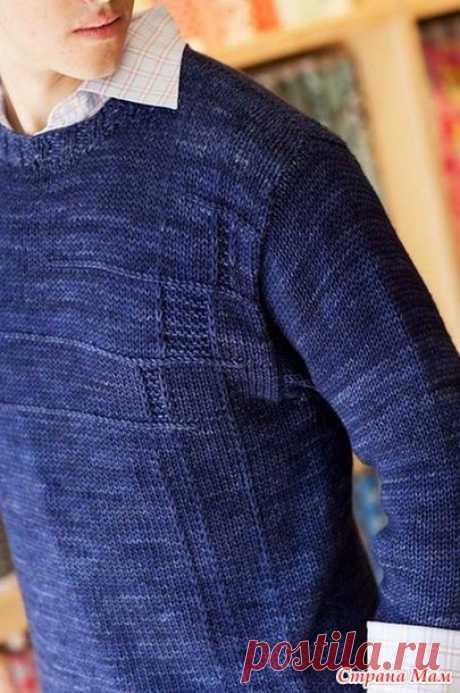 Синий свитер)) или Jon`s sweater by Sarah Wilson - Страна Мам