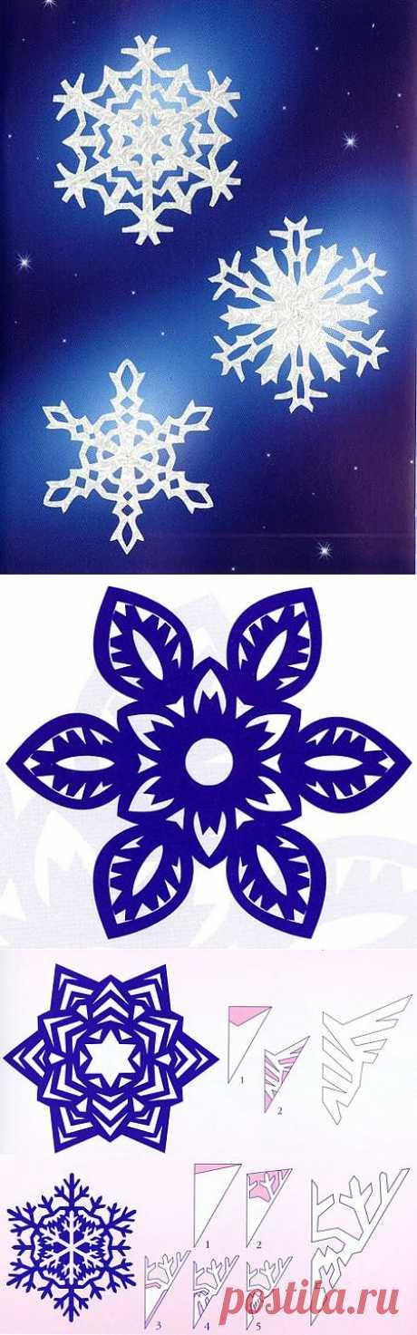Как правильно и красиво вырезать снежинку.