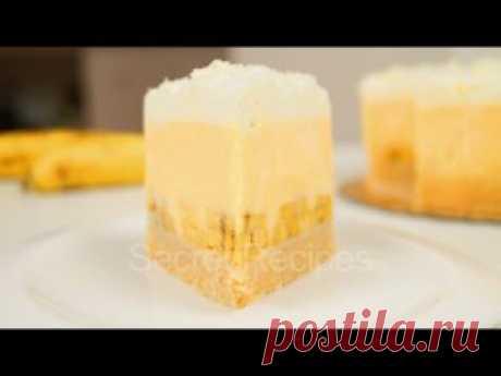 LA TORTA DE PLÁTANO SIN COCCIÓN. LA TORTA SIMPLE Y SABROSA SIN COCCIÓN | BANANA CAKE NO BAKE