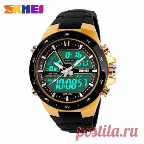 Мужские спортивные кварцевые цифровые часы мужская мода многофункциональный Relogio Masculino Relojes купить на AliExpress 837 руб