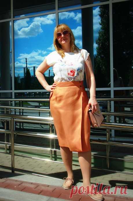 Оранжевая юбка   сок-1