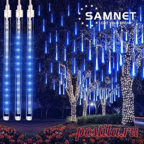 650.43руб. 34% СКИДКА|30 см/50 см светодиодная гирлянда для метеоритного дождя, праздничная полоса, светильник, наружный водонепроницаемый Сказочный светильник s для сада, улицы, Рождественское украшение|Праздничное освещение|   | АлиЭкспресс Покупай умнее, живи веселее! Aliexpress.com
