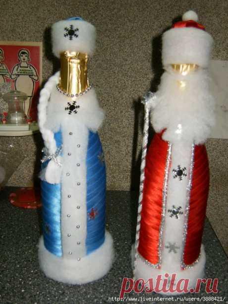 Снегурочка из шампанского на новый год своими