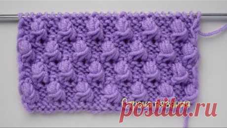 Узоры спицами. Шишечки. Knitting patterns. Bumps.