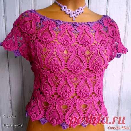 """Блуза """"Лира"""". - Вязание - Страна Мам"""