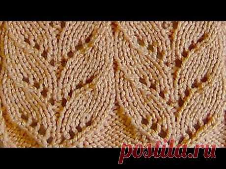 Широкие ажурные дорожки Вязание спицами Видеоурок 261