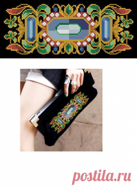 Brooch with sapphire от MagicOfNeedle на Etsy