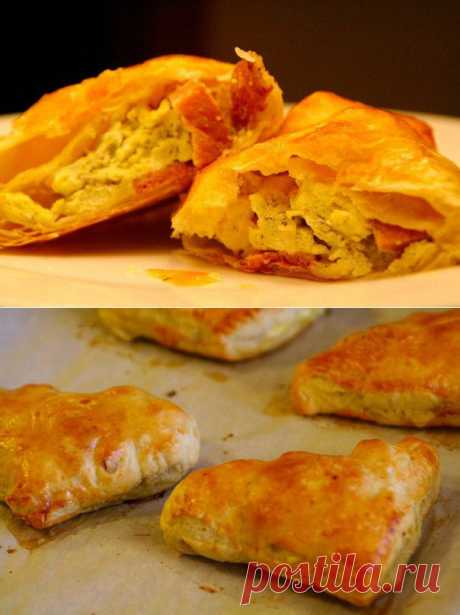 Пирожки с яйцами и ветчиной кулинарный рецепт с фото от Paragrams