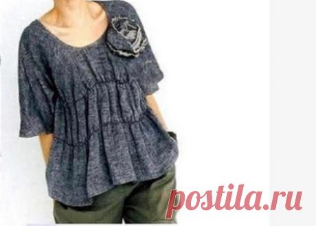 Выкройка японской бохо блузки Модная одежда и дизайн интерьера своими руками