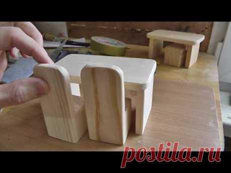 Кукольный домик из дерева. Часть 2. Делаем столик для кукол