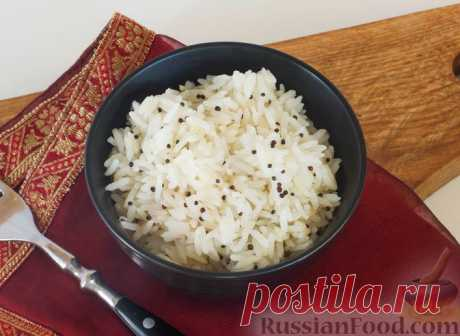 Рассыпчатый рис с семенами черной горчицы