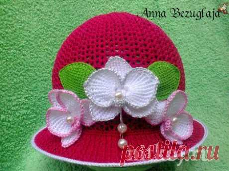 Шляпа с орхидеями