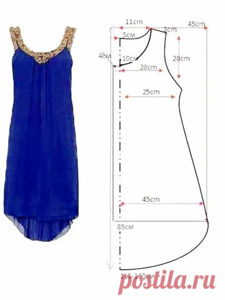 Выкройка платья-сарафана - Сделай сам - медиаплатформа МирТесен