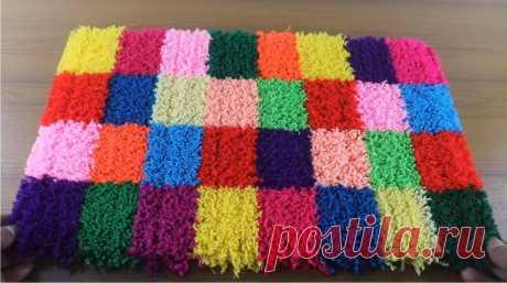 Пушистый коврик для ванны: просто намотать нитки, отрезать и готово | Декорочка | Яндекс Дзен