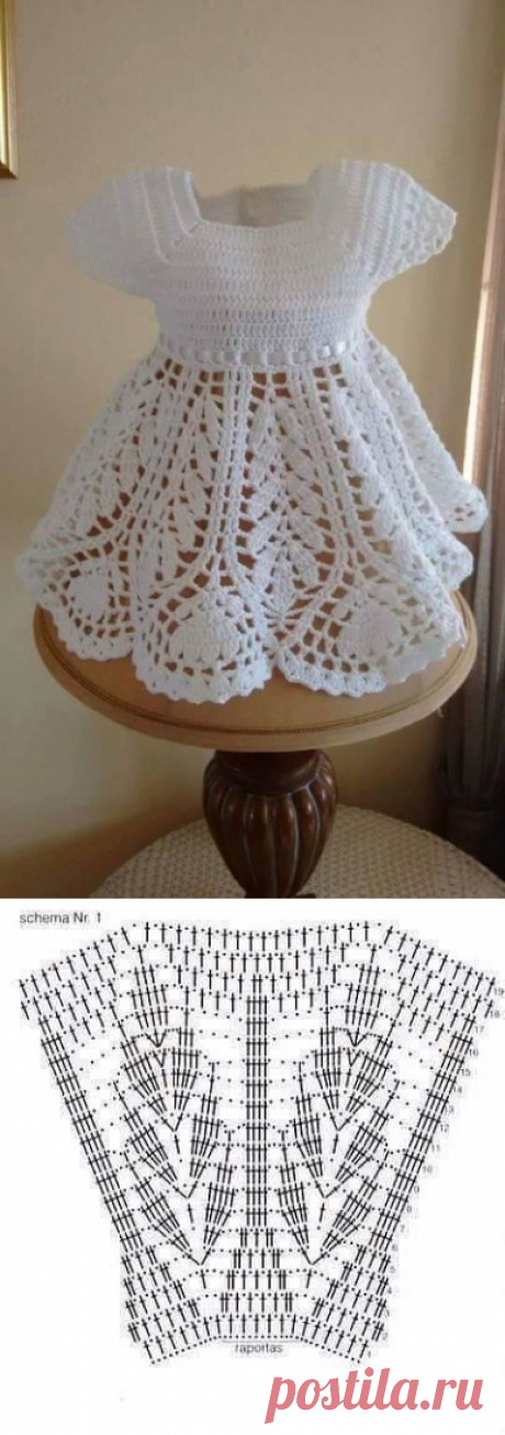 Платье для малышки крючком из категории Интересные идеи – Вязаные идеи, идеи для вязания