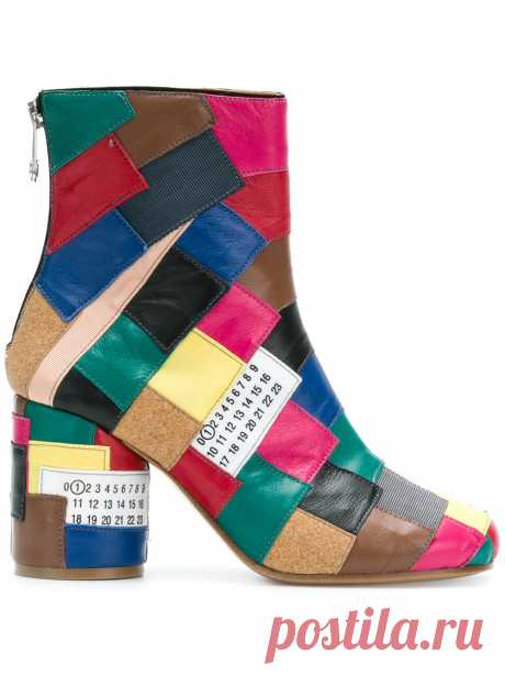 Сапоги цветного блока Maison Margiela - Farfetch