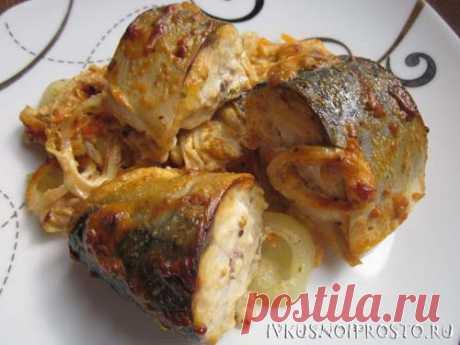 Запеченная скумбрия в горчичном соусе - пошаговый рецепт с фото   И вкусно и просто