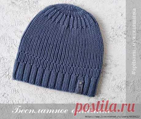 Топ или жилетка и мужская шапка спицами - медиаплатформа МирТесен