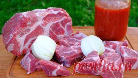 Очень вкусный маринад для шашлыка из свинины – Вкусный мягкий шашлык из свинины Шашлык готовим всегда из свиной шеи, благодаря большому количеству жировых прослоек в этом мясе шашлык всегда получается сочным и мягким. А такой маринад прекрасно оттеняет вкус мяса, томатный и луковый сок делают мясо еще мягче и нежнее, а растительное масло помогает специям...