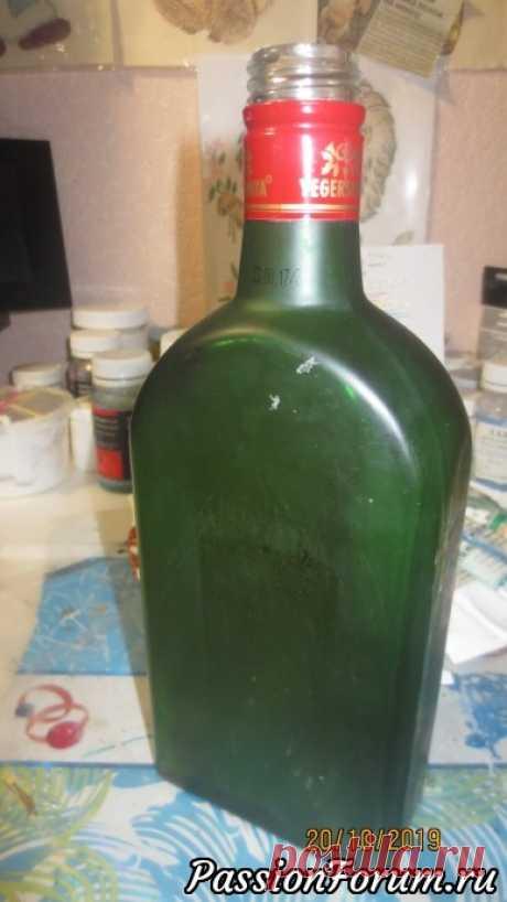 Бутылки с точечной росписью.   Мастер классы по декору