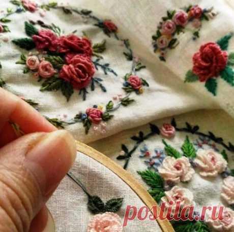 Моя прелесть — вышиваем розочки в стиле «рококо»  Вышиваем розочки в стиле «рококо»                 обзор по материалам из интернета